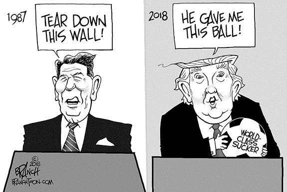 Editorial Cartoon: Reagan vs. Donnie