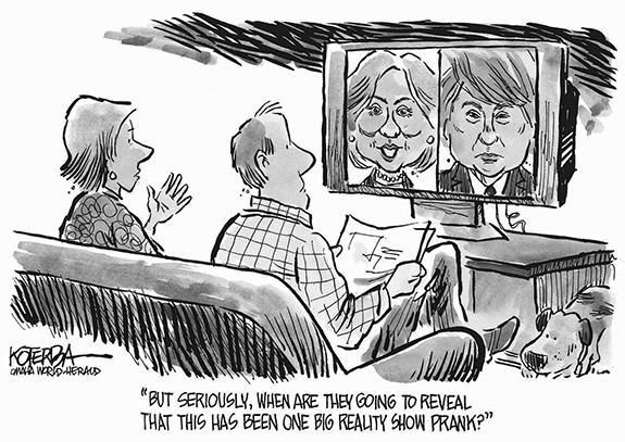 Editorial Cartoon: Reality Show