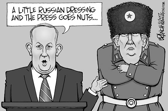 Editorial Cartoon: Russian Dressing