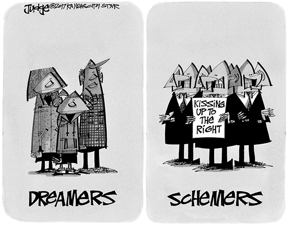 Editorial Cartoon: Schemers