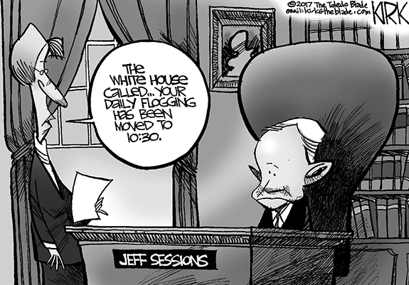Editorial Cartoon: Sessions Flogging