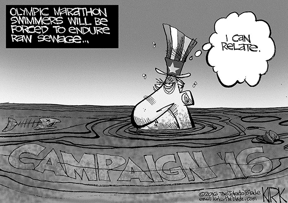 Editorial Cartoon: Sewage