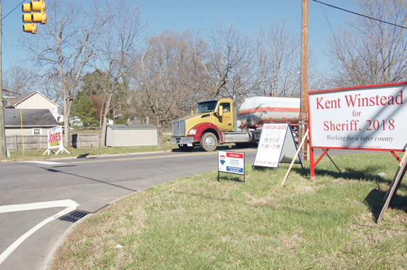 <i>Those campaign signs popping up largely unregulated</i>