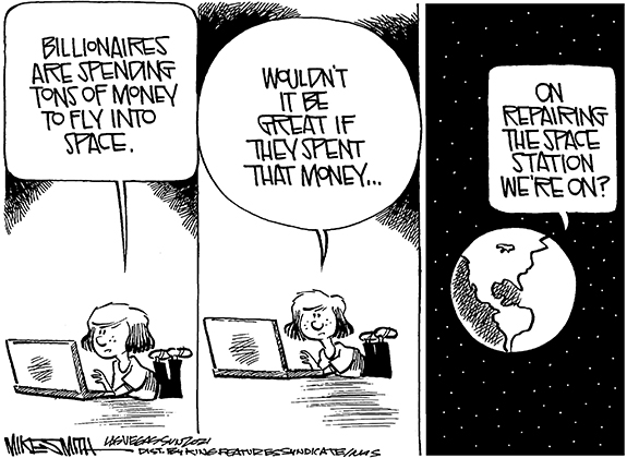 Editorial Cartoon: Space Spending