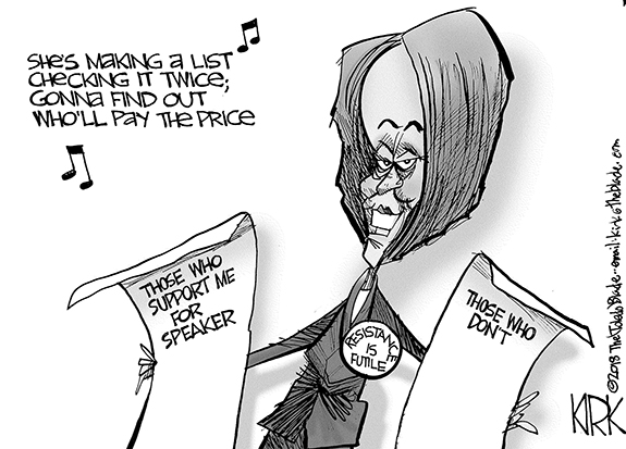 Editorial Cartoon: Speaker