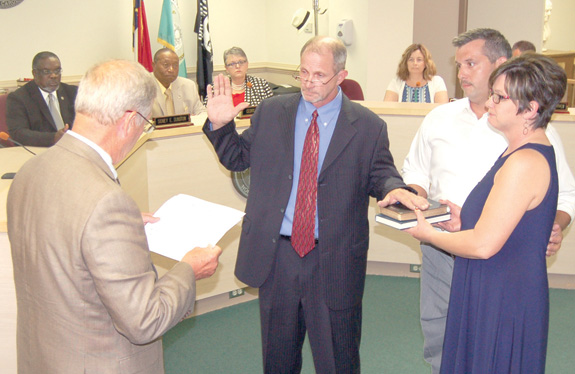 Speed joins county board