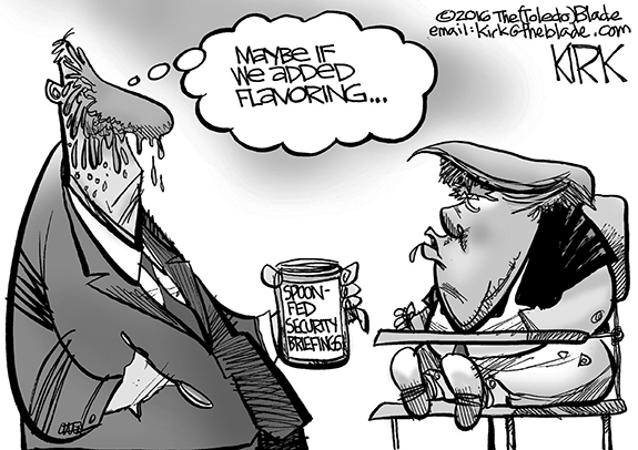 Editorial Cartoon: Spoon-Fed