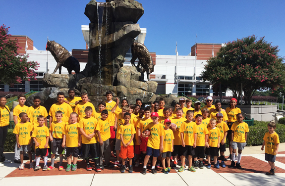 CAMPERS SPEND DAY AT NC STATE