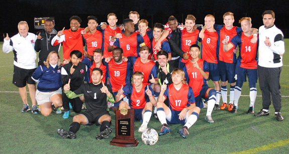 2015 NATIONAL MEN'S SOCCER CHAMPIONS -- LOUISBURG COLLEGE