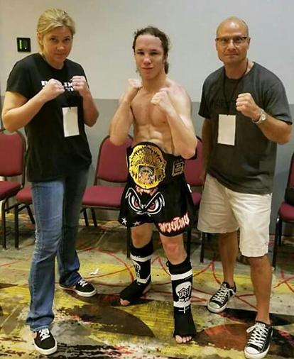 Buffaloe wins kickboxing title