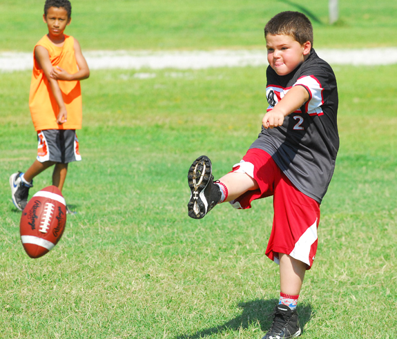 Campers Learn Football Skills