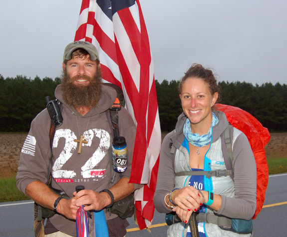Bum knee ends walk for veterans, but 'stay tuned'