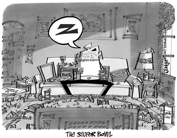 Editorial Cartoon: Stupor Bowl