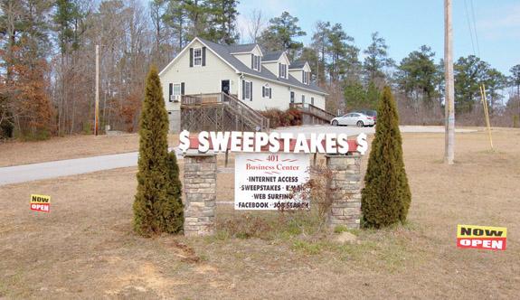 State drops hammer on sweepstakes cafes