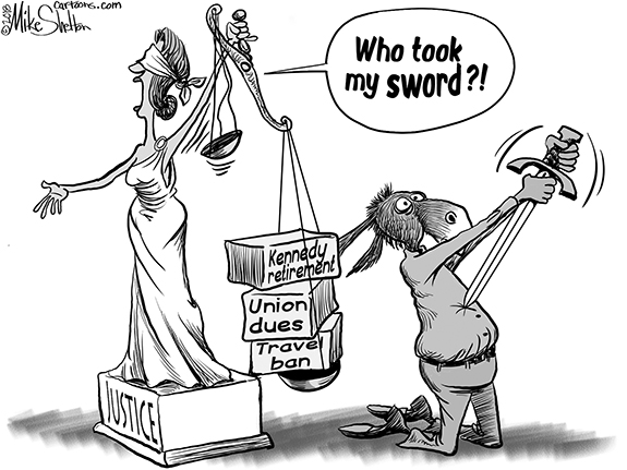 Editorial Cartoon: Sword