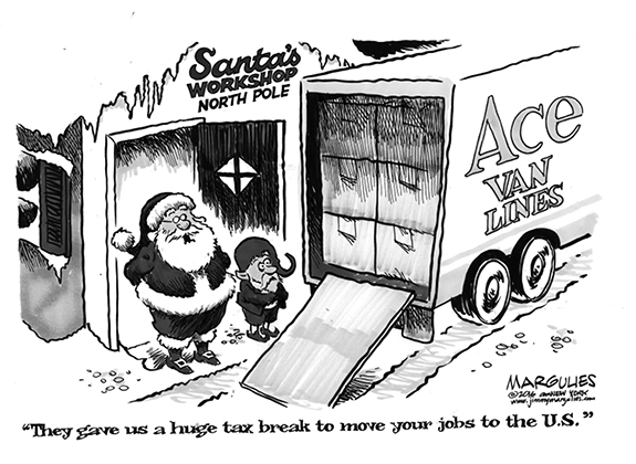 Editorial Cartoon: Tax Break