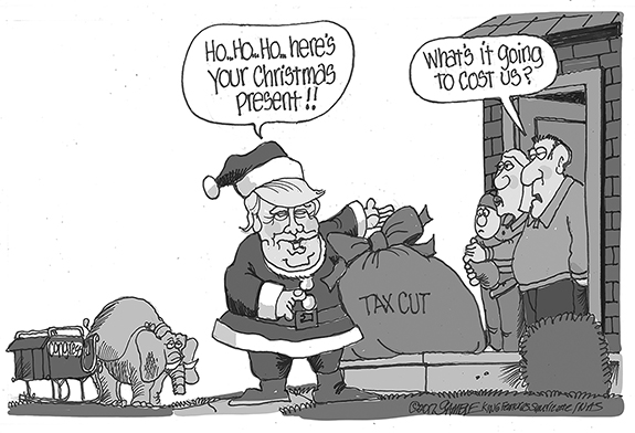 Editorial Cartoon: Tax Cut Cost
