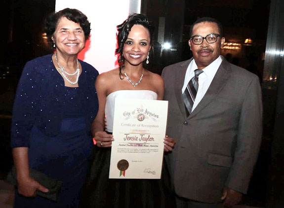 <i>Franklin County's Tensie Taylor honored in LA</i>