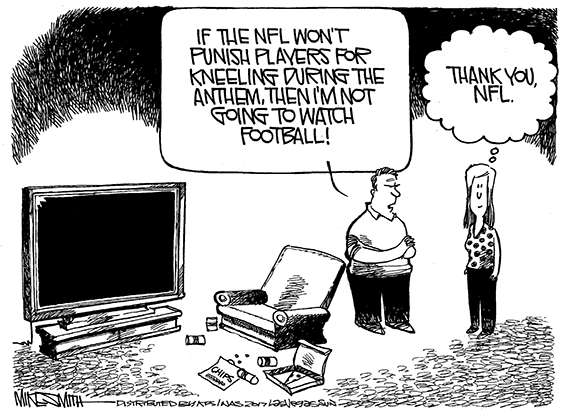 Editorial Cartoon: Thanks, NFL