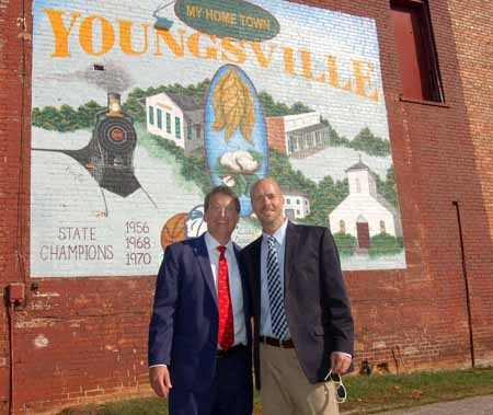 <i>Youngsville mayor takes governor on 'exciting' tour of downtown</i>