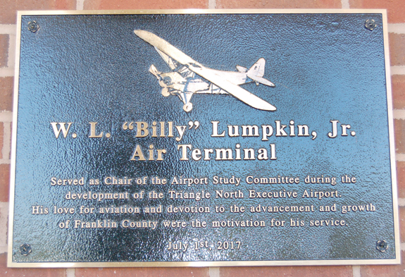 <i>Billy Lumpkin, aviation pioneer, is remembered</i>