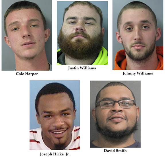 Five local men charged with Cascine burglary
