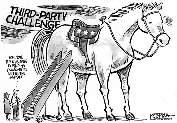 Editorial Cartoon: Third Party Race