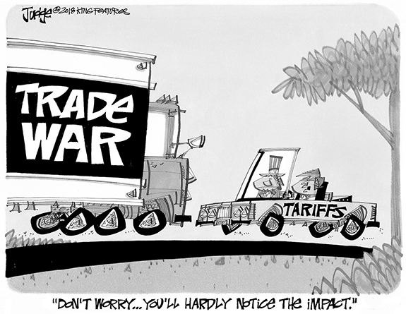 Editorial Cartoon: Trade Wars