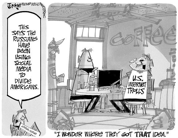 Editorial Cartoon: Trolls
