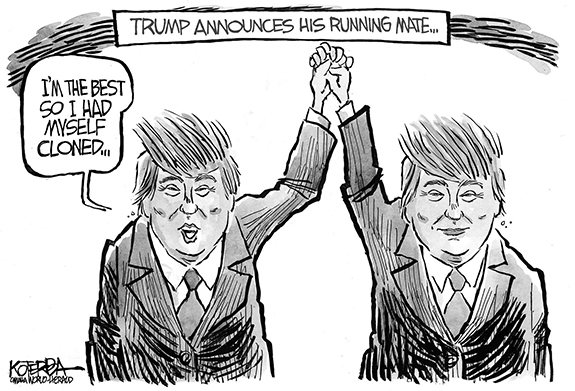 Editorial Cartoon: Trump Cloned