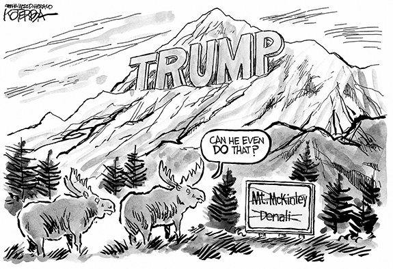 Editorial Cartoon: Mt. Trump