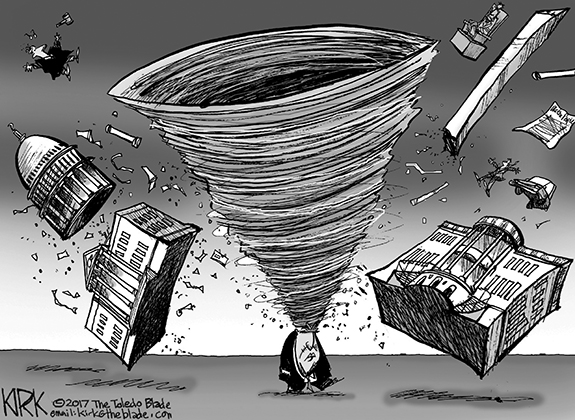 Editorial Cartoon: Trumpnado