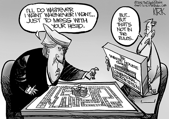 Editorial Cartoon: Trump On Rules