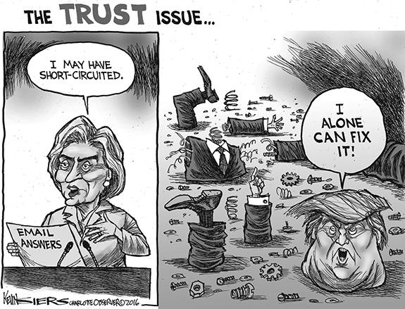 Editorial Cartoon: Trust