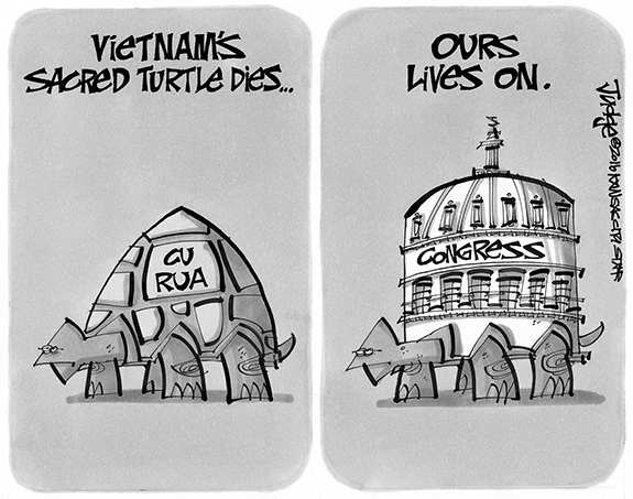 Editorial Cartoon: Turtle Lives