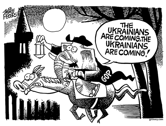 Editorial Cartoon: Ukrainians Are Coming!