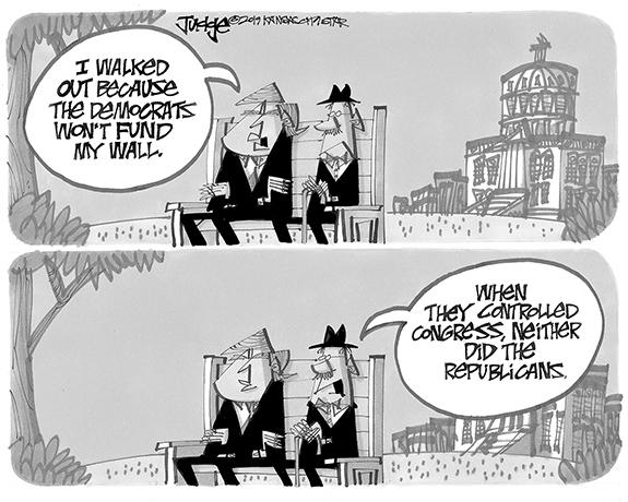 Editorial Cartoon: Wall