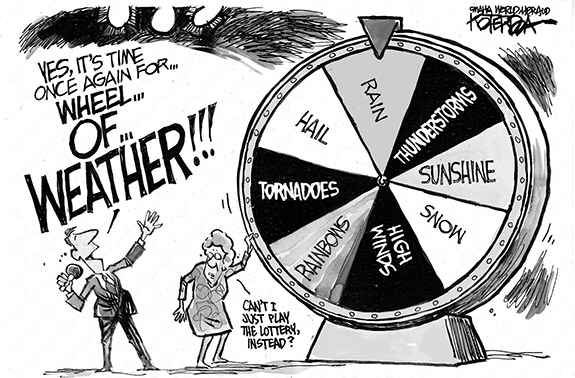 Editorial Cartoon: Weather