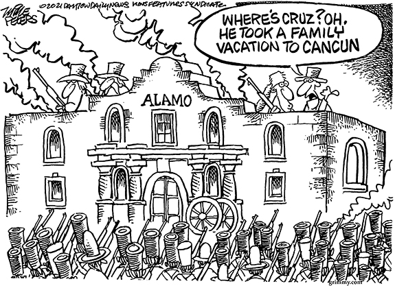 Editorial Cartoon: Where's Ted?